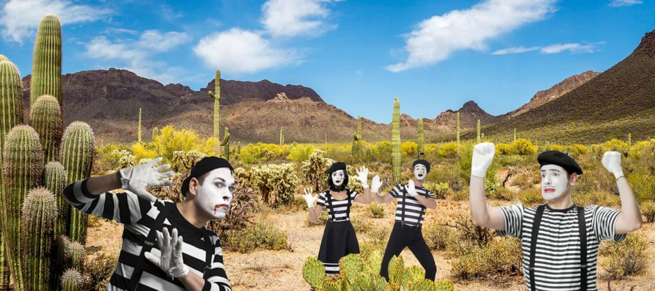 Mimes invisible wall